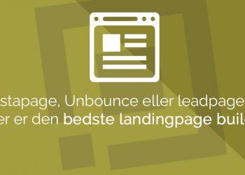 hvilken landing page er bedst