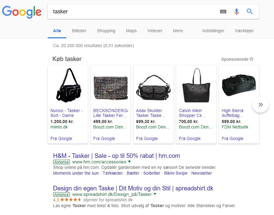 tasker google shopping eksempel