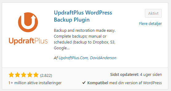updraft wordpress plugin